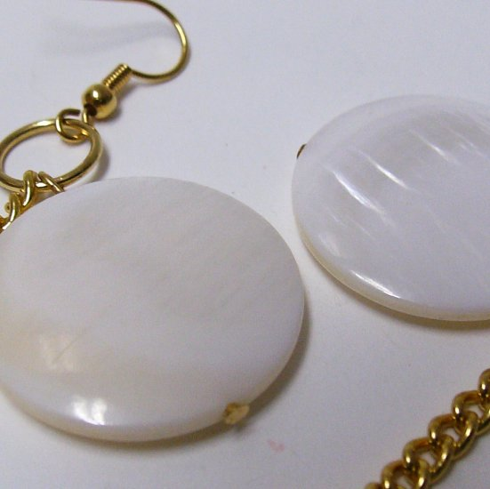 Shell And Goldplated Earrings