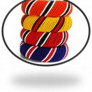 6 Multi Color Masai Beads