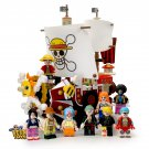 One Piece Thousand Sunny Pirate Ship building blocks with 9 custom minifigures.
