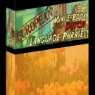 European Mini eBook DUTCH language phrases digital