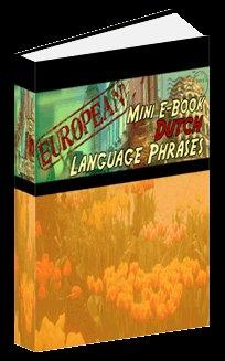 European Mini eBook DUTCH language phrases digital