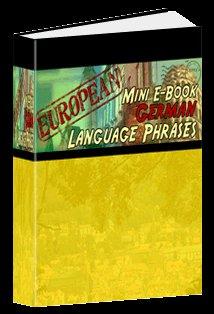 European Mini eBook GERMAN language phrases digital