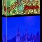 Europian Mini eBook ROMANIAN language phrases digital