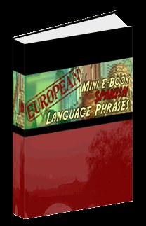 Europian Mini eBook SPANISH language phrases digital