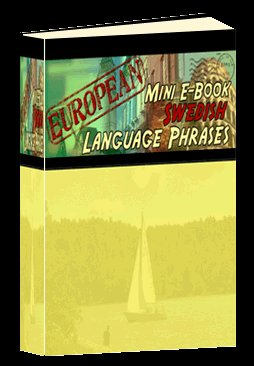 Europian Mini eBook SWEDISH language phrases digital