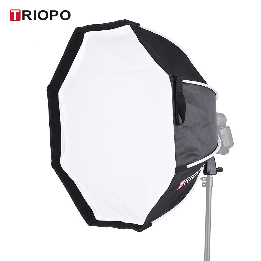 2018 TRIOPO 65cm Foldable 8-Pole Octagon Softbox with Soft Cloth Handle for Godox Yongnuo Andoer On-