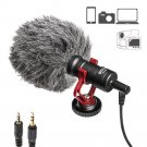 3.5 mm Universal Cardioid Recording Microphone  For iPhone  Android Smartphone  Canon  Nikon  DSLR C
