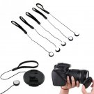 5 Pcs 23cm Universal for DSLR Lens Cover Cap Holder Keeper Strap Cord String Leash Rope for Canon Ni