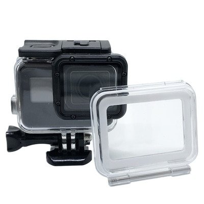 60M/197ft Waterproof Housing Case Touch Screen Back Door For Gopro Hero 7/6/5/(2018) For Go Pro Blac