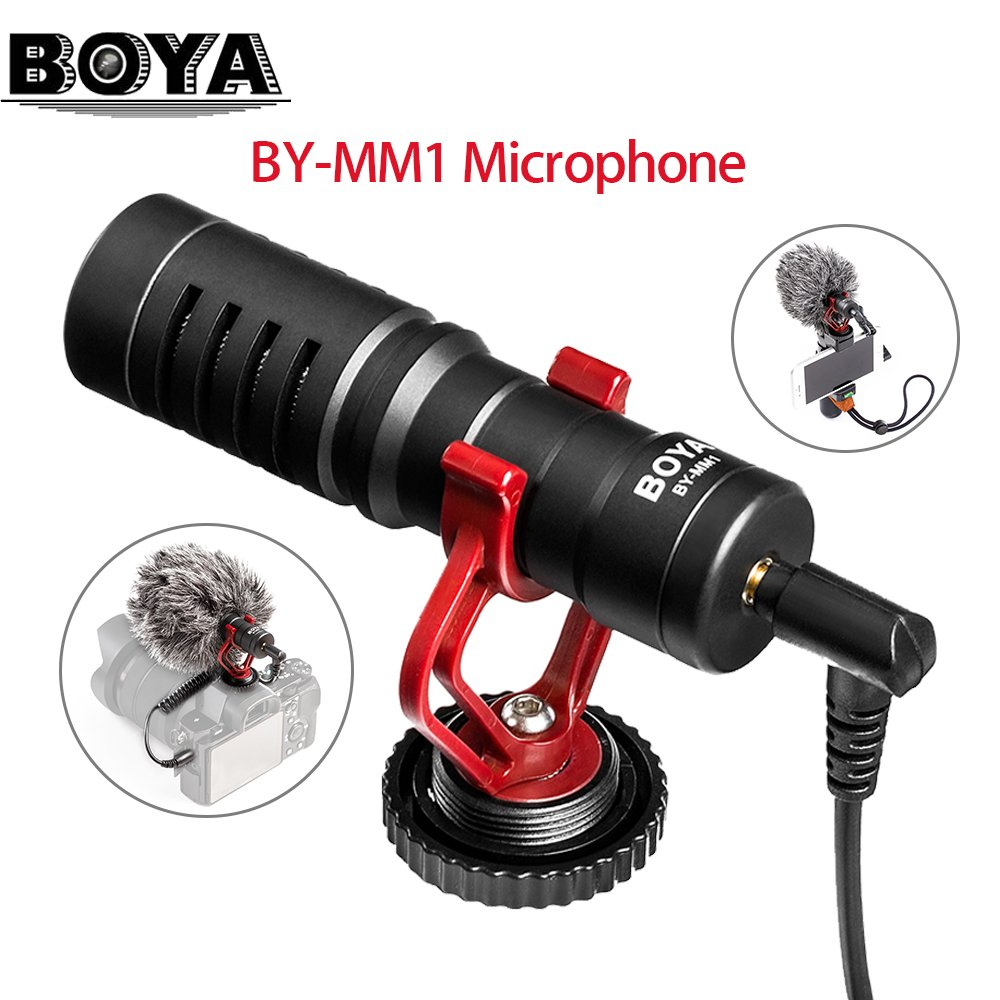 BOYA BY-MM1 Compact On-Camera Video Microphone Recording Mic for Smartphones cameras camcorders audi