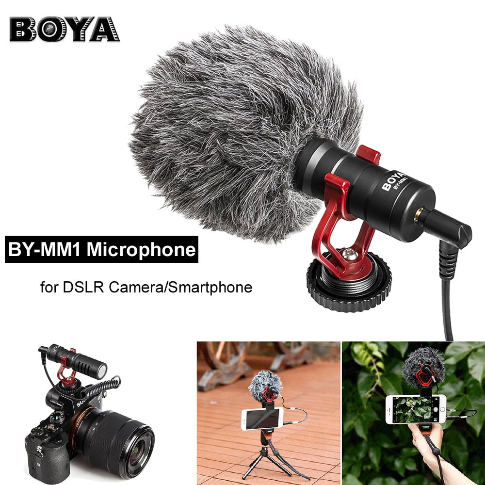 BOYA BY-MM1 Compact On-Camera Video Recording Microphone Mic for Nikon Canon Sony A7 DSLR Camera/Sma
