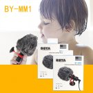 BOYA BY-MM1 Phone Video Microphone 3.5mm Wired Condenser Sound Microphones With Shock Mount For ipho