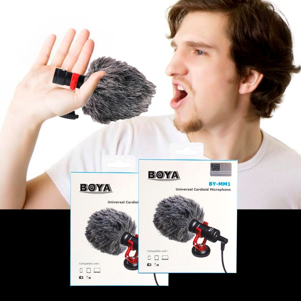 BY-MM1 Lapel heart-shaped microphone BOYA BY-MM1 for digital SLR camera consumer camera built-in mic