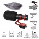 COMICA CVM-VM10 II Universal Video Microphone with Shock Mount Deadcat Windscreen Case for DSLR Came