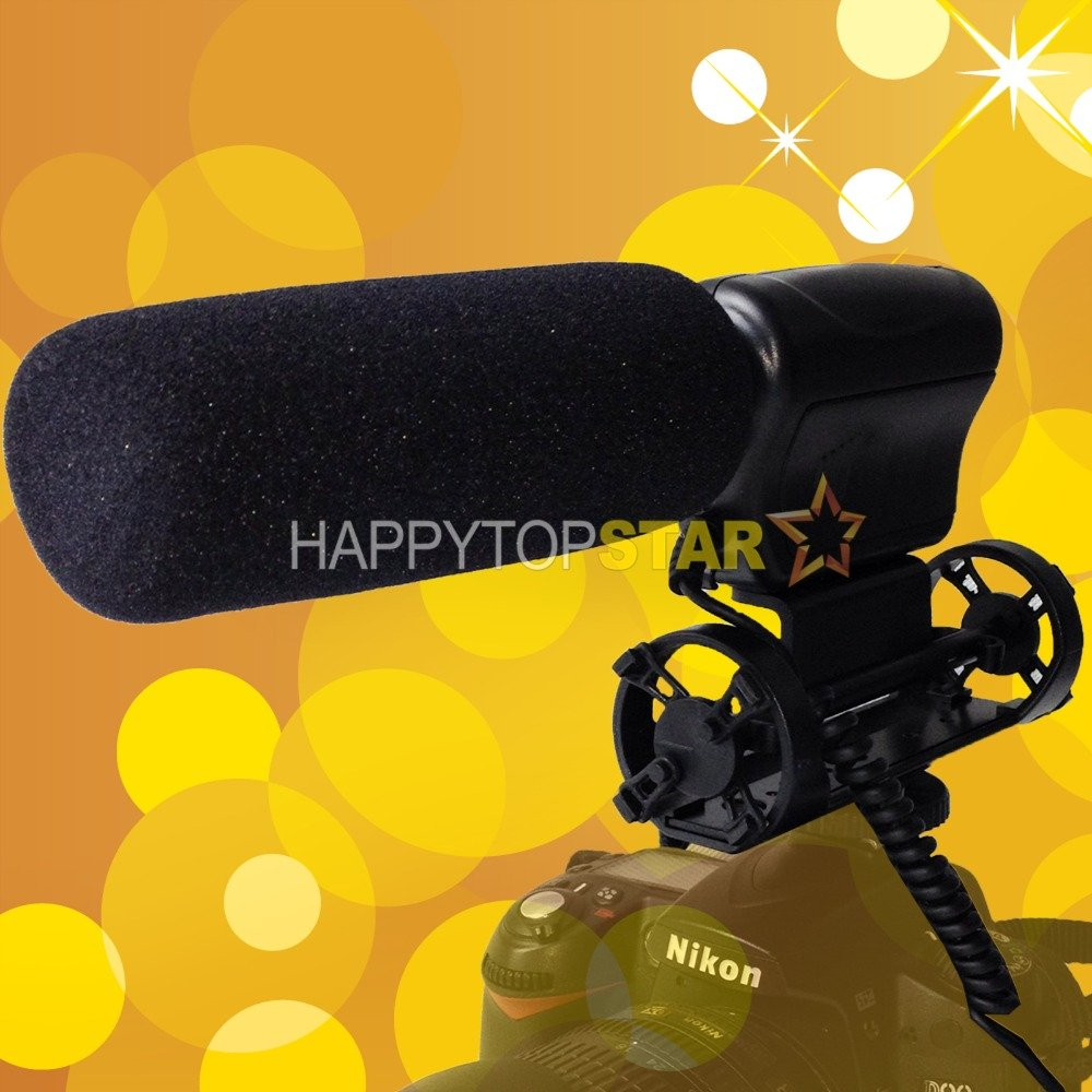 Camera Shotgun DV Stereo Micro DIRECTIONAL Stereo Microphone Mic for Canon 5D Mark III 4 IV 70D 700D