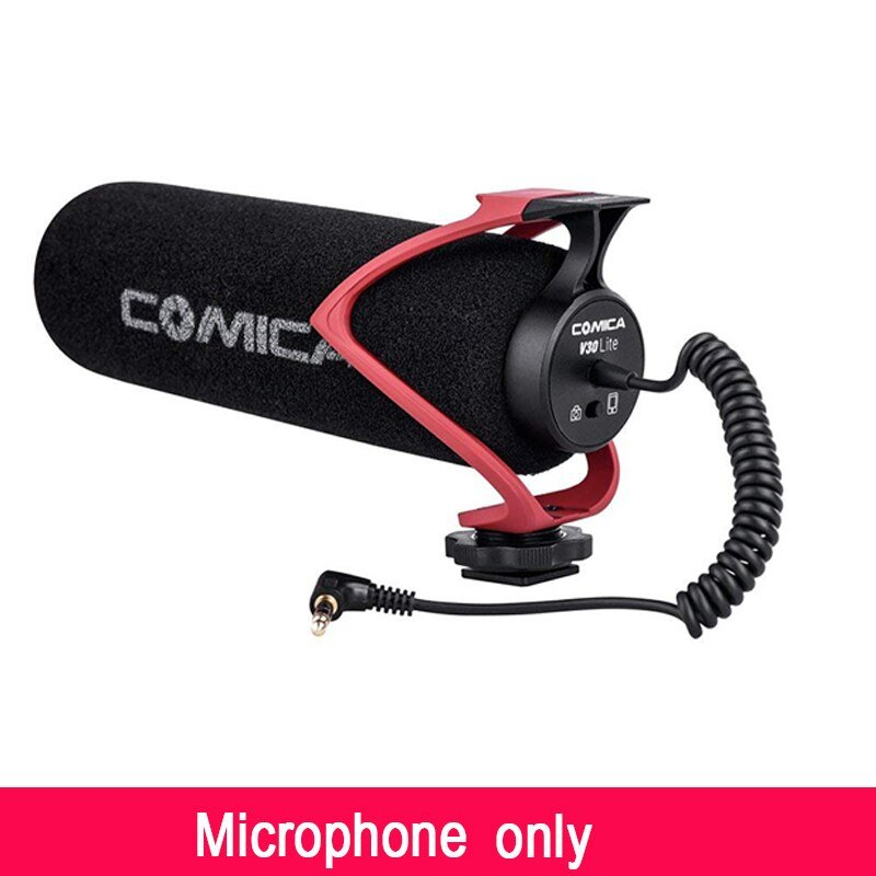 Comica CVM-V30 On Camera Microphone Directional Condenser Recording Shotgun Video Mic for iPhone Can