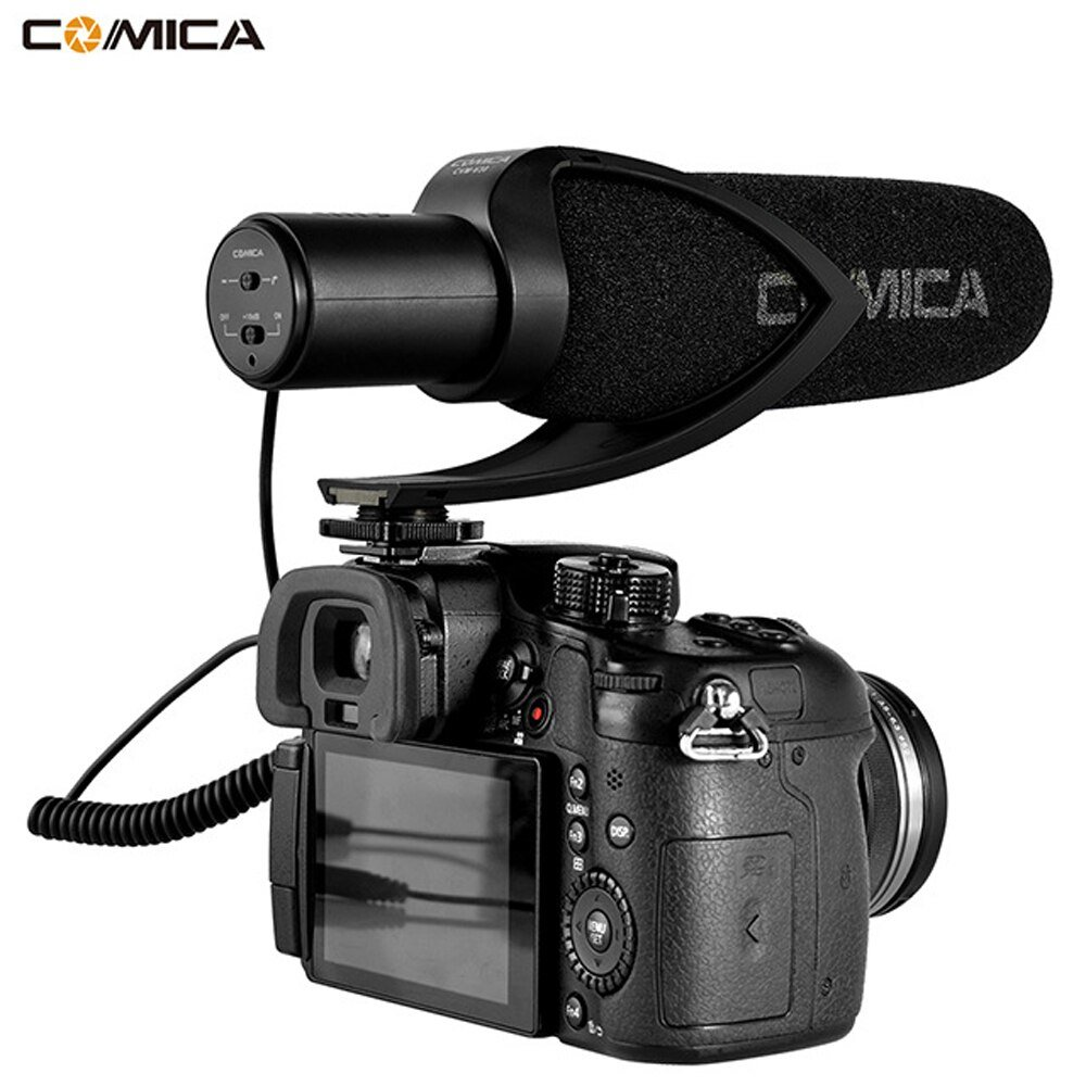 Commlite CVM-V30 Camera Super-Cardioid Directional Interview Video Conference Microphone MIC for Nik