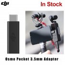DJI Original Osmo Pocket 3.5mm Adapter Type C to 3.5mm Audio Adapter for External Microphone for Osm