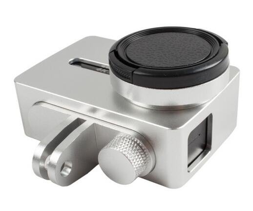 For xiaomi Yi 4k Protective CNC Aluminum Frame Case with Screw Lens Cap + UV Filter for xiaoyi 2 II
