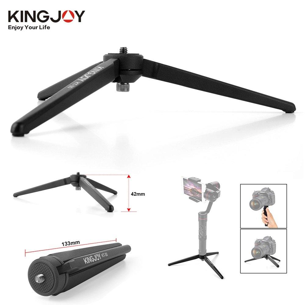 KINGJOY KT-30 Aluminum Portable Mini Tabletop Tripod Leg for DSLR Camera Zhiyun Smooth Q 4 Crane 3 C