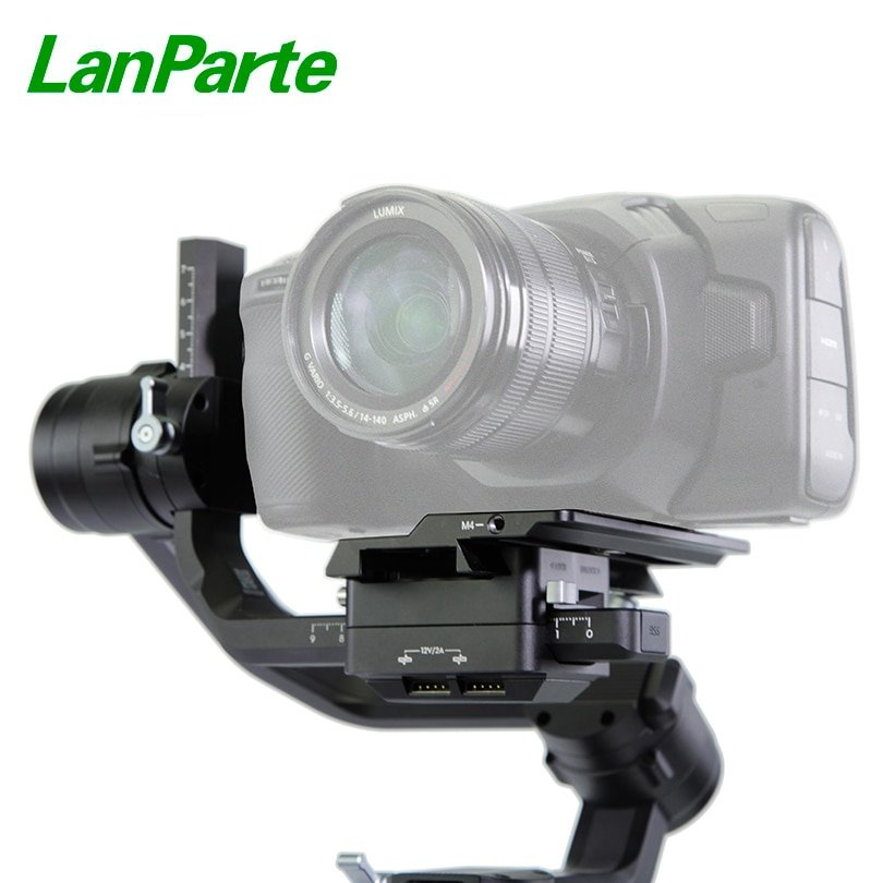 Lanparte Ronin S Offset Camera Plate 120g Camera Base Bottom Plate for BMPCC 4K Blackmagic for DJI R