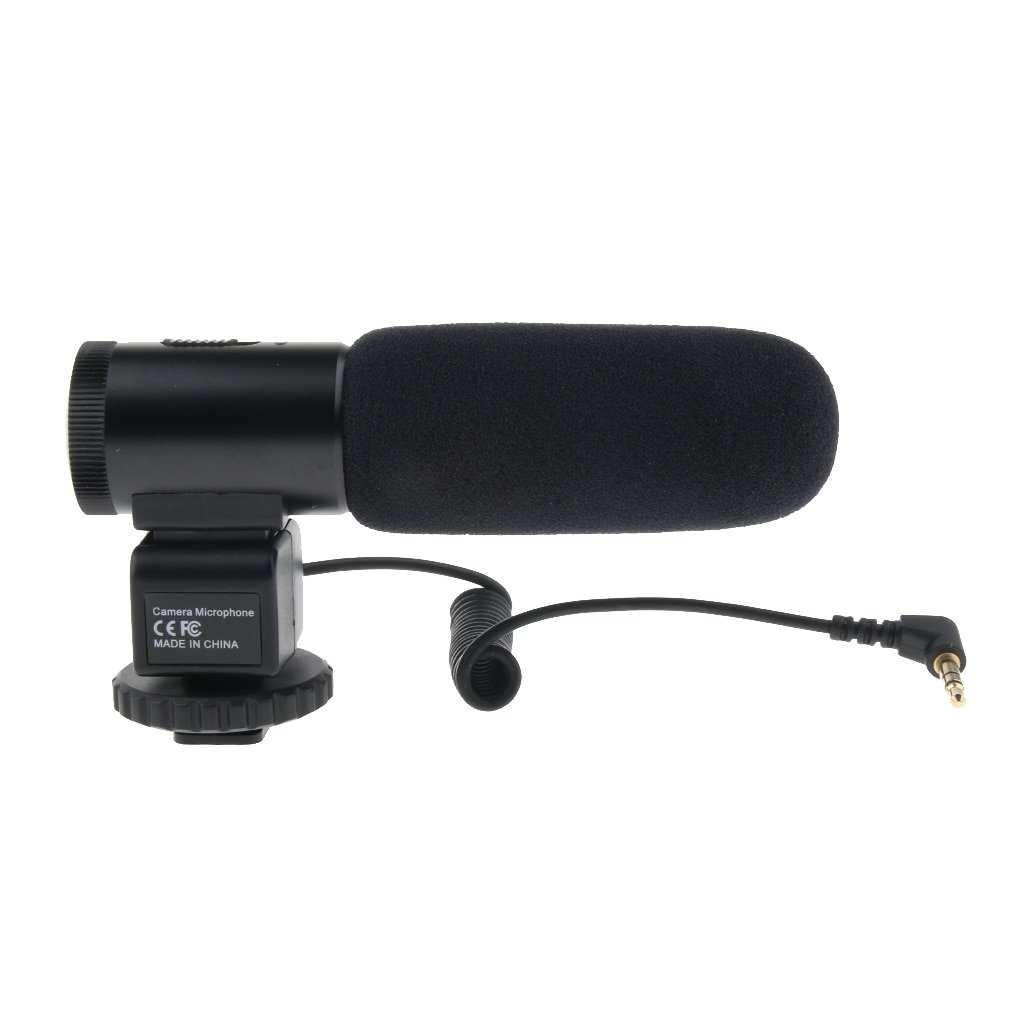MIC-03 3.5mm Camera Shotgun Mic Microphone for Sony for Canon for Nikon Olympus DSLR