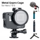 Metal Gopro Cage Hero 7 6 5 Camera Protection Frame with Filter  Action Camera Accessories with Hot