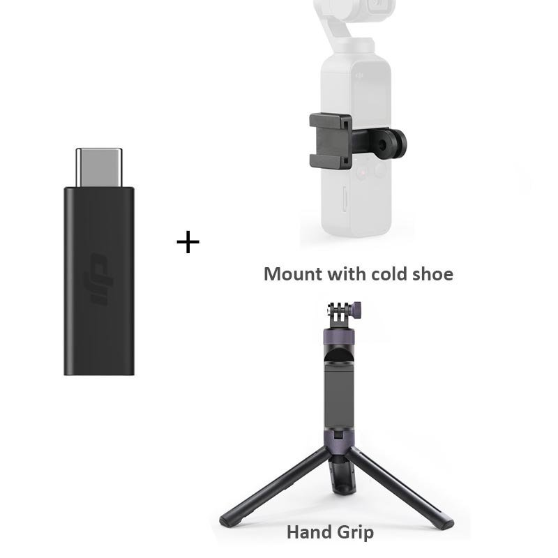 Original Osmo Pocket 3.5mm Adapter Supports external 3.5mm microphone mic mount for DJI Osmo Pocket