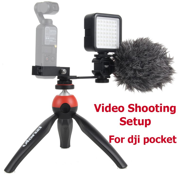 Osmo Pocket accessories Video Setup Mount Microphone L Bracket LED video light Mic Stand for DJI Poc