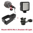 Osmo Pocket accessories Video Setup Mount Microphone L Bracket LED video light Mic Stand for DJI Poc