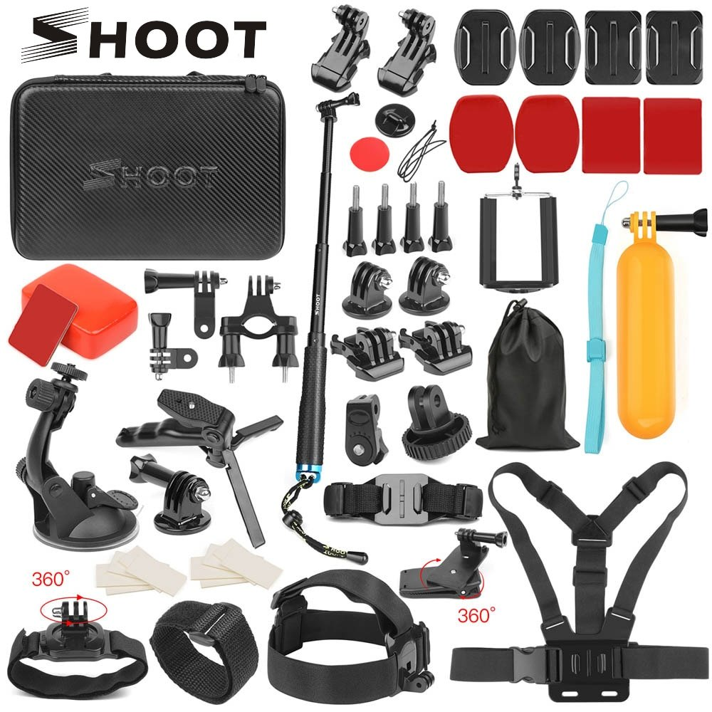 SHOOT Action Camera Accessory for GoPro Hero 7 6 5 4 Black Xiaomi Yi 4K Lite 2 SJCAM SJ7 Eken H9 Go