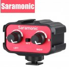 Saramonic Universal Microphone Audio Adapter Mixer with Stereo & Dual Mono 3.5mm Inputs for Canon Ni
