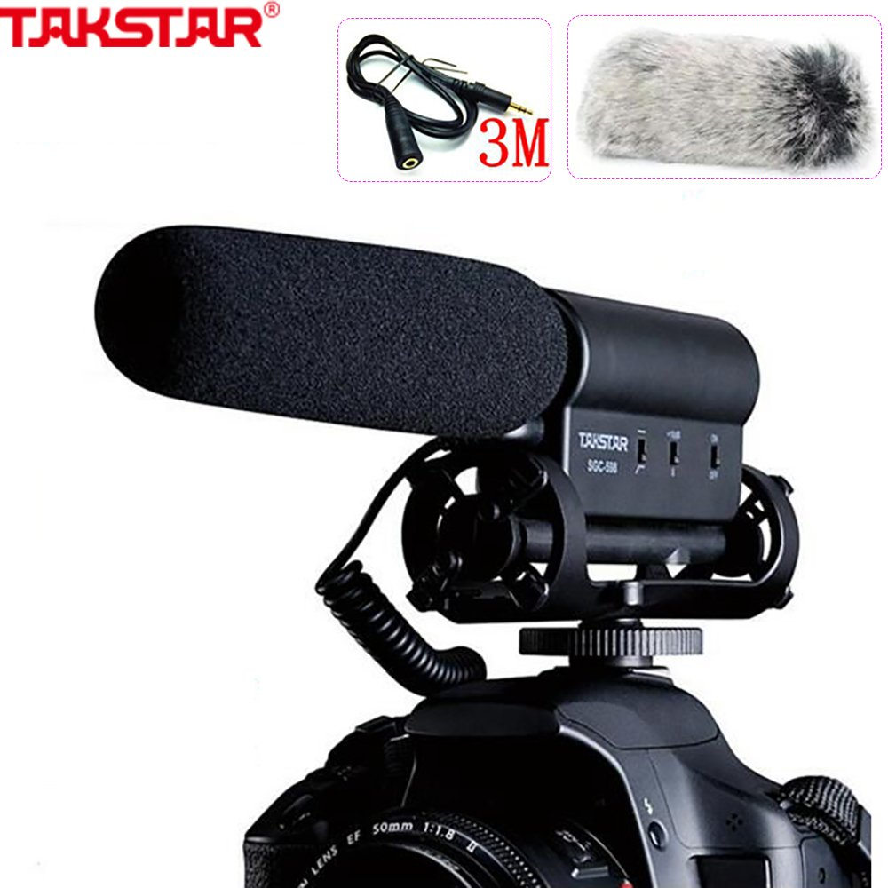 TAKSTAR SGC-598 Photography Interview on Camera FOR Canon/NIkon/sony Microphone Photography Intervie