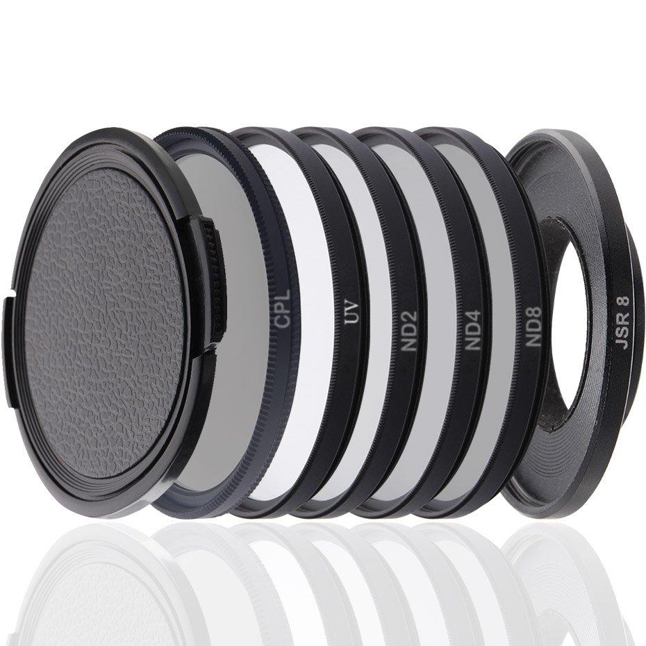 TENENELE For Sjcam SJ8 Action Camera Filter CPL/ND 2 4 8/UV Protect Filters For SJCAM SJ8 Air/Plus/P