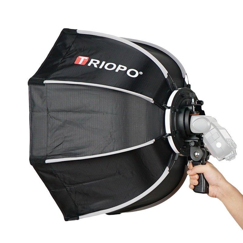 TRIOPO 65cm Foldable Softbox Octagon Soft box w/Handle for Godox Yongnuo Speedlite Flash Light photo