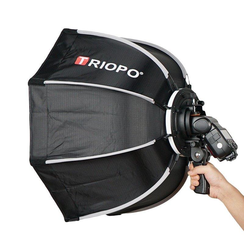 TRIOPO 65cm Umbrella Softbox Portable Outdoor Octagon For Godox V860II TT600 TT685 YN560 III IV TR-9