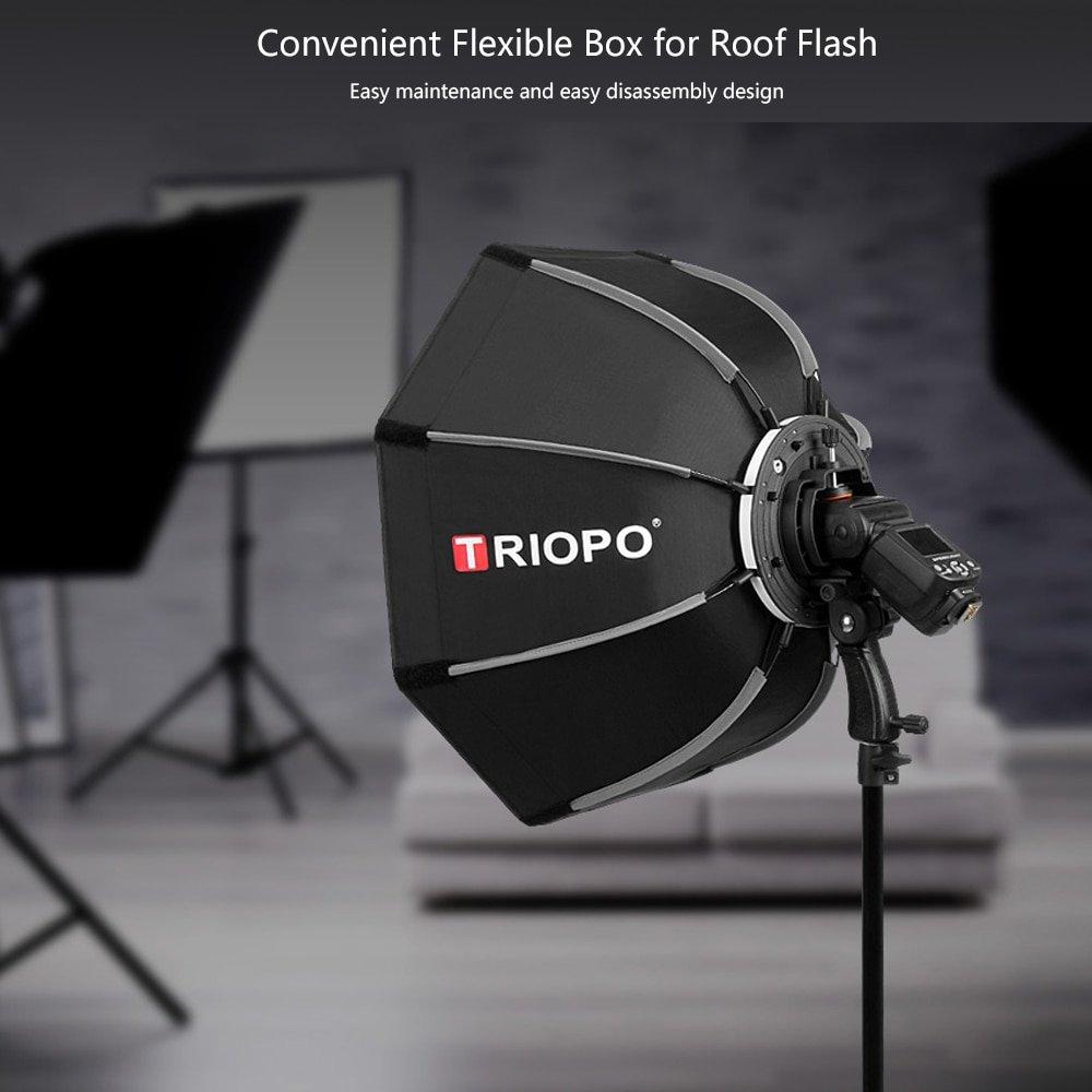 Triopo 65cm Octagon Umbrella Softbox For Canon Nikon Sony Pentax Godox  V860II TT350 JY-680A  Speedl