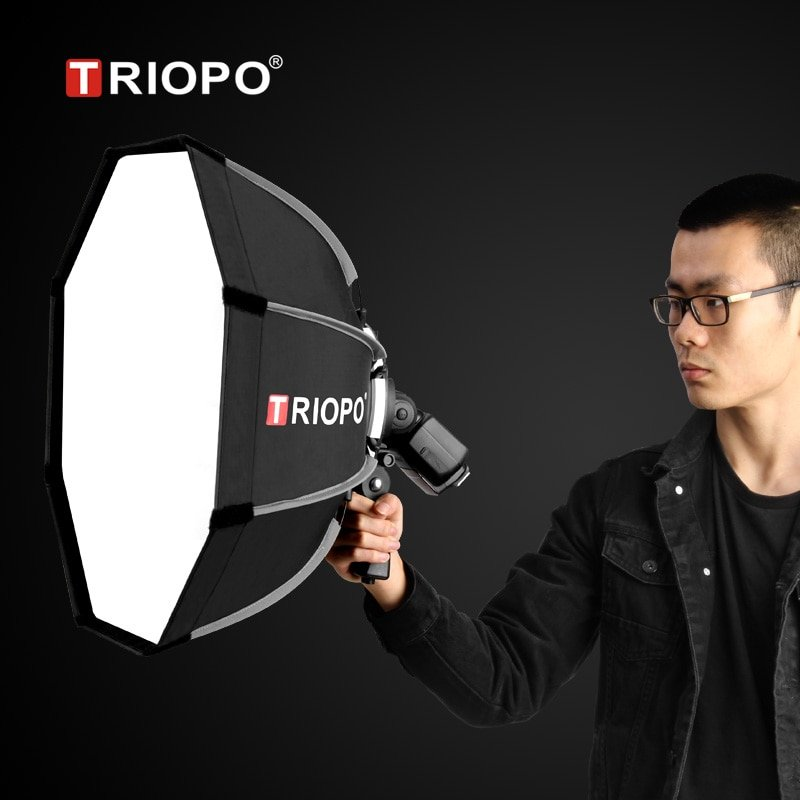 Triopo 90cm Photo Portable Outdoor Speedlite Flash Octagon Umbrella Softbox for Godox V860II TT600 Y