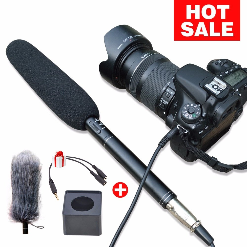 Ulanzi Arimic Professional Shotgun Interview Microphone Directional Condenser MIC for DSLR  DV Camco