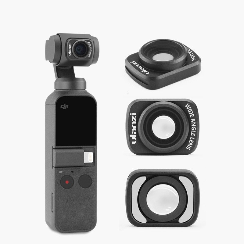 Ulanzi OP-5 Osmo Pocket Wide Angle Camera Lens for DJI Osmo Pocket Magnetic Len Stand Base Mount for
