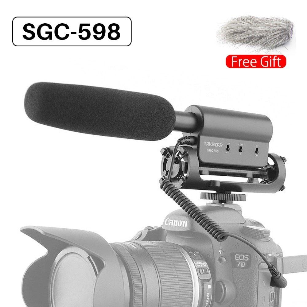 Ulanzi Original TAKSTAR SGC-598 Photography Interview Shotgun MIC Microphone for Nikon Canon DSLR Ca