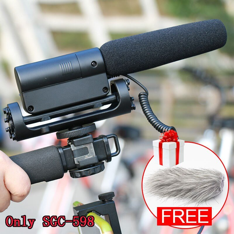 Ulanzi Original TAKSTAR SGC-598 Photography Interview Shotgun MIC Microphone for Nikon Canon DSLR Ca