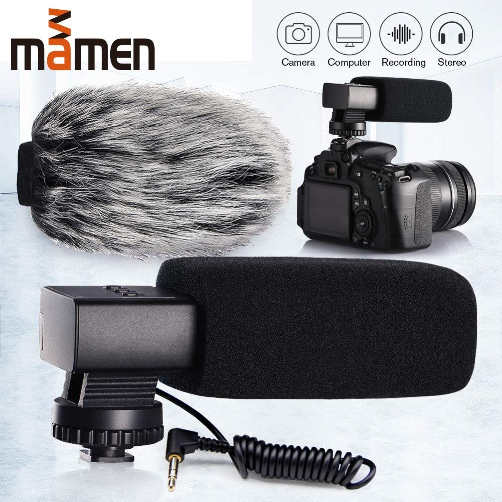 Video Recording Stereo Camcorder Microphone Aluminum Super-cardioid MIC For Camera/Phone Microphone