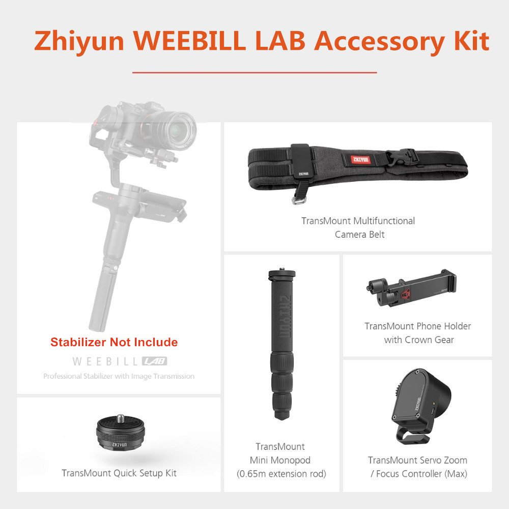 Zhiyun WEEBILL LAB Accessory Kit for Creator Package Include Focus Controller Mini Monopod Phone Hol