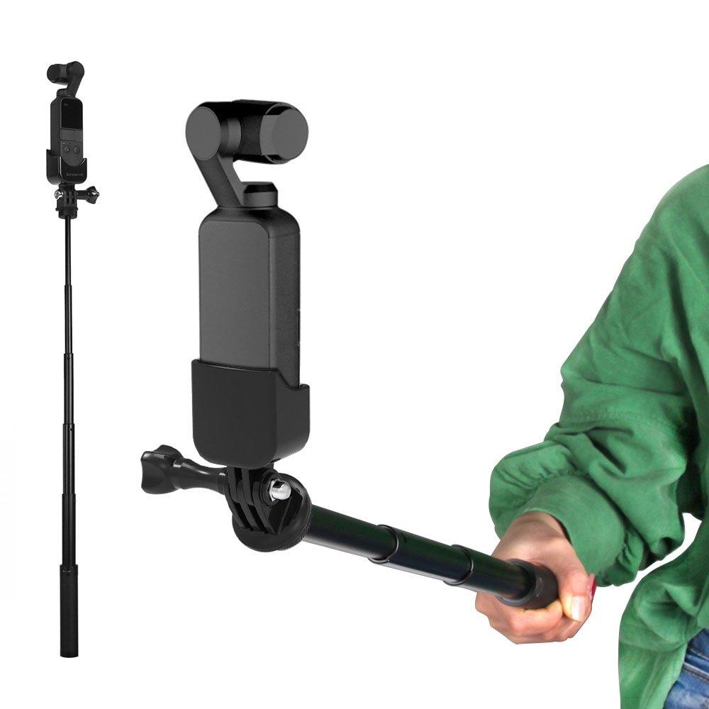 dji osmo pocket accessories extend pole 1/4 adapter mount bracket extension rod selfie stick pocket