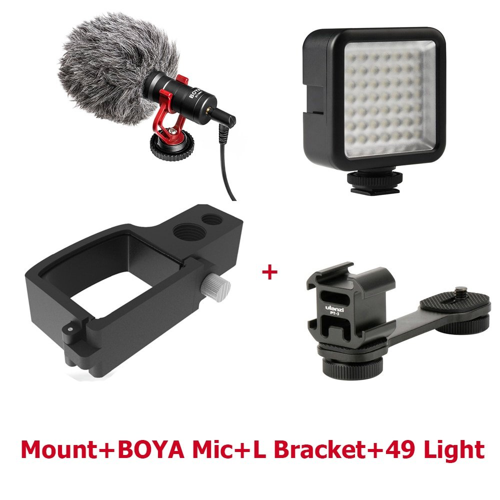 dji osmo pocket handheld accessories mount Microphone L Bracket LED video light Mic Stand for DJI Po