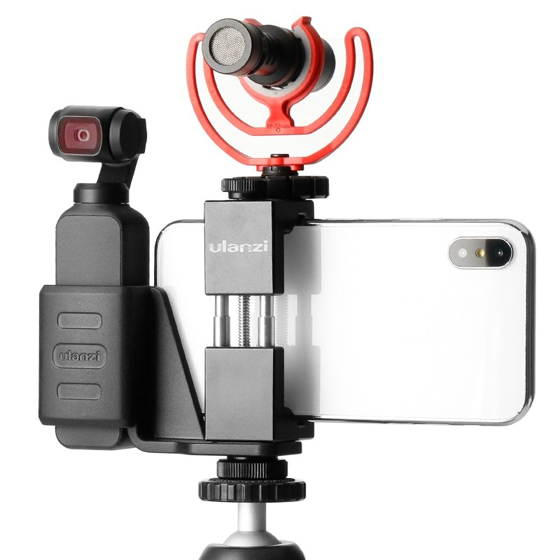DJI Osmo Pocket Accessories Phone Mount Clip Holder for Osmo Pocket Handheld Gimbal with Cold Shoe B