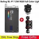 Pocket Boling RGB LED Video Light 12W Dimmable Full Color 2500-8500K for DSLR Camera Studio Vlogging