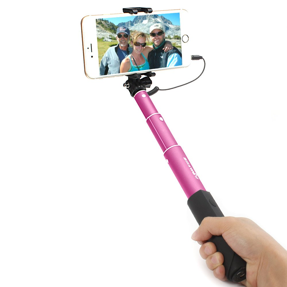 BlitzWolf® BW-WS1 Mini Extendable Wired Selfie Stick Monopod For iPhone 6 Samsung Galaxy Smartphone