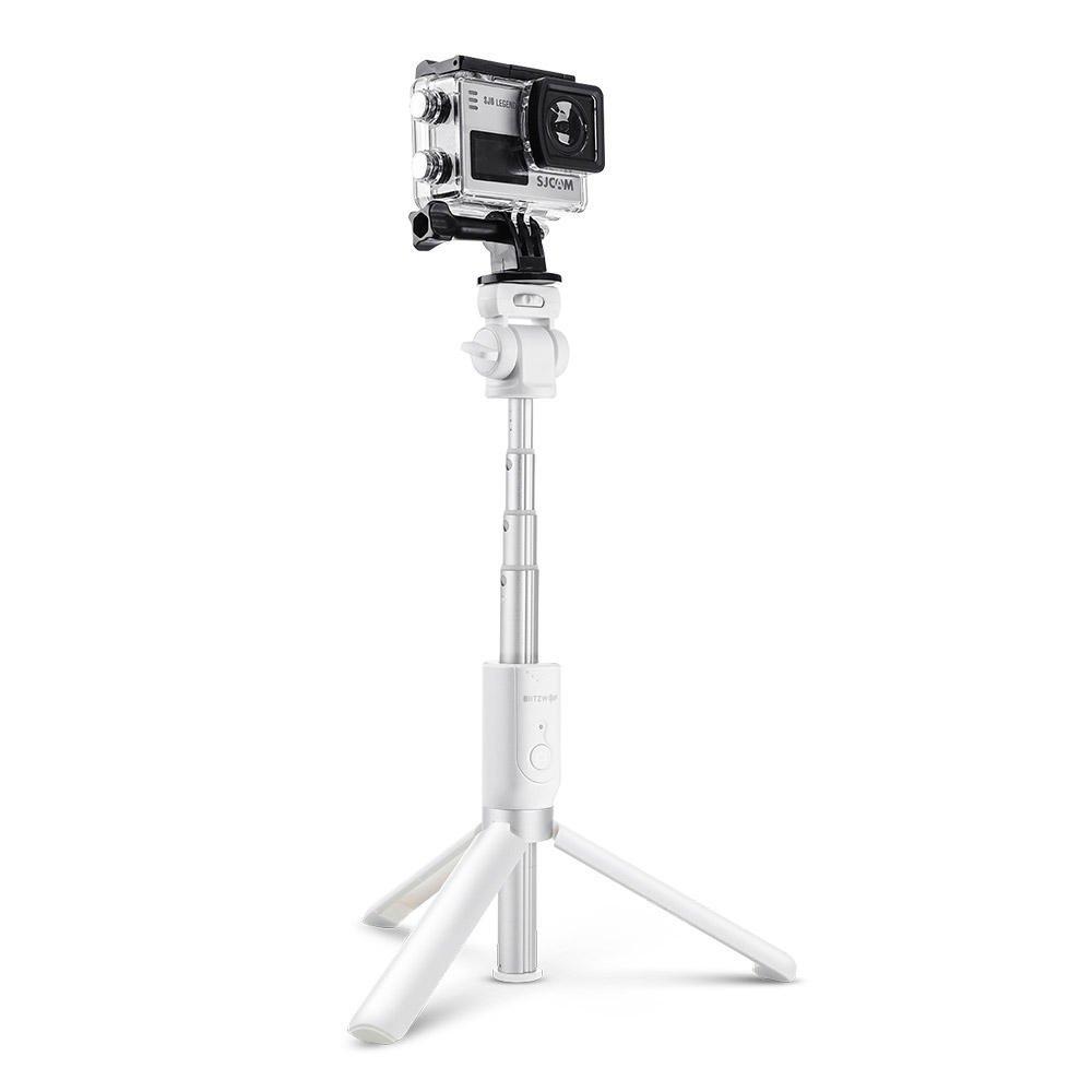 BlitzWolf BW-BS3 Sports Versatile 3 in 1 bluetooth Tripod Selfie Sticks for Sport Camera Phone - Whi